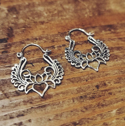 Lotus ear hoops