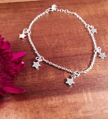 Dainty Silver Star Bracelet