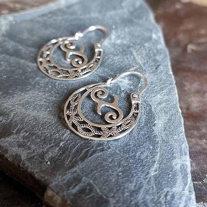 Flat Spiral Ear Hoops