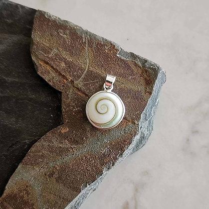 Round Shiva Shell Pendant