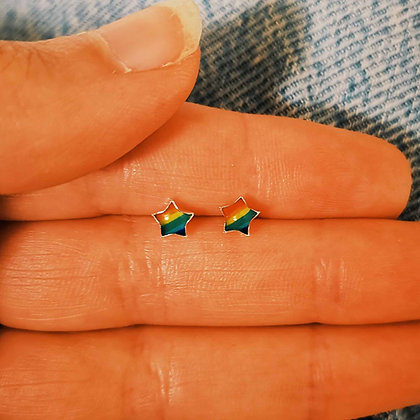 Rainbow Star Ear Studs