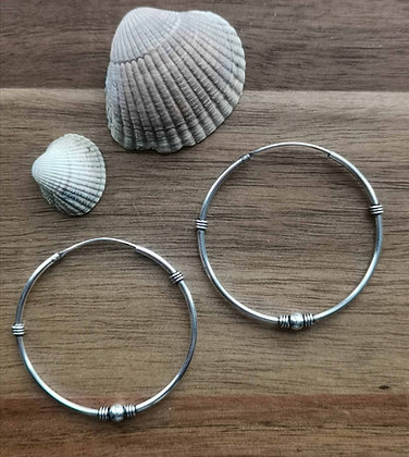 Large Ball and Coil Ear Hoops