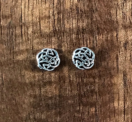 Round celtic ear studs