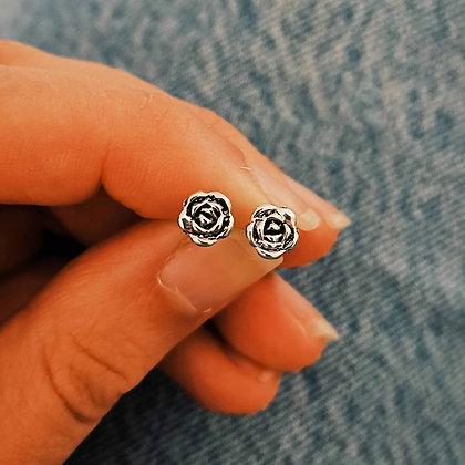 Flat Rose Ear Studs