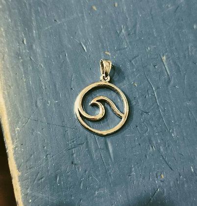 Wave outline pendant