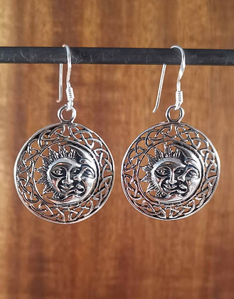 Celtic Sun And Moon Earrings