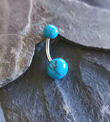 Turquoise Colour Belly Bar