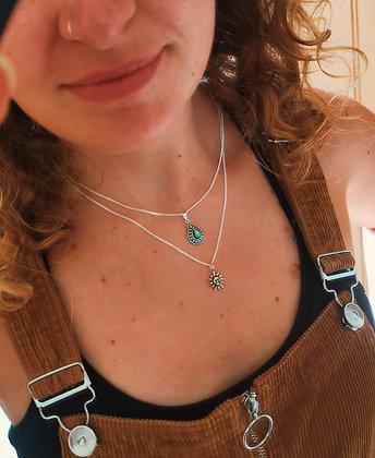 Teardrop and Sun Necklaces
