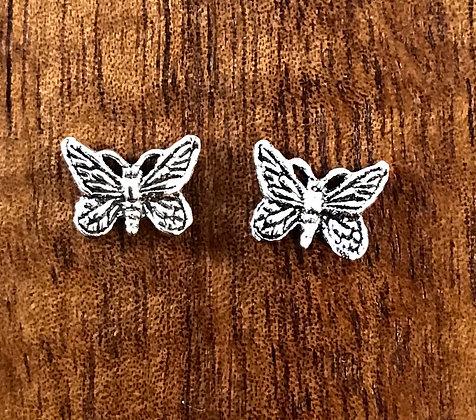 Butterfly ear studs