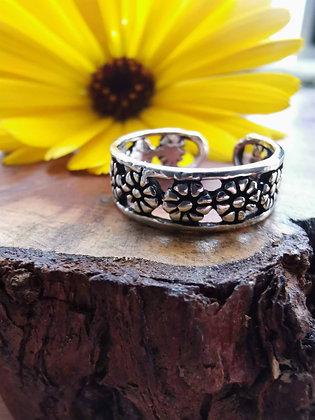 Daisy Flower Toe / Midi ring