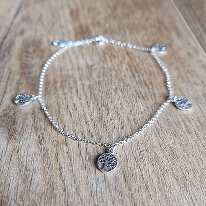 Tree of Life Charm Anklet