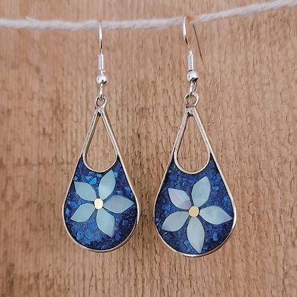 Azul Abril Flower Earrings
