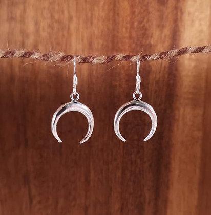 Upside down moon earrings