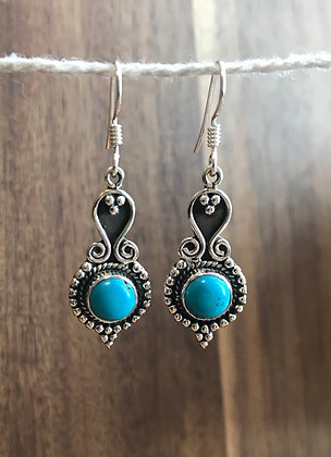Boho Stone Dangle Earrings