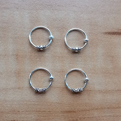 Mix pack ornate nose hoops