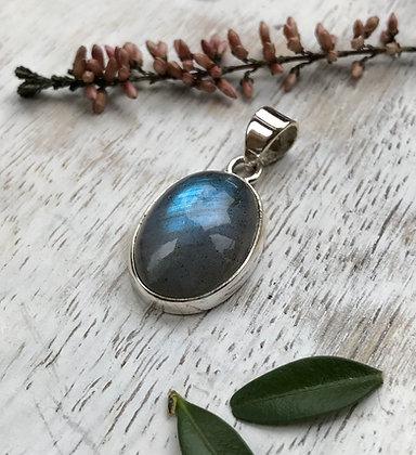 Oval Semi Precious Stone Pendant