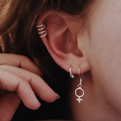 Female Symbol Drop Earrings
