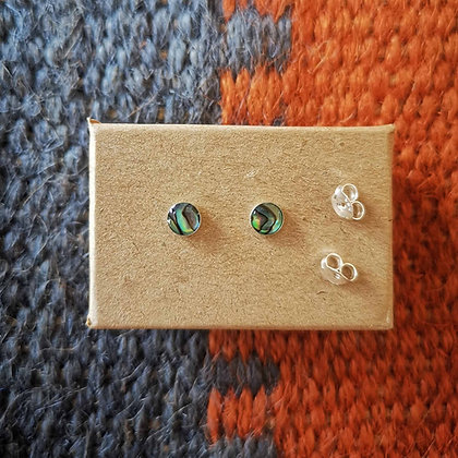 Abalone Style Ear Studs