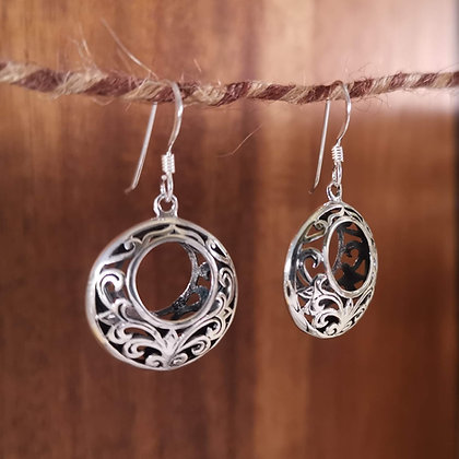 Round 3D Ornate Earrings