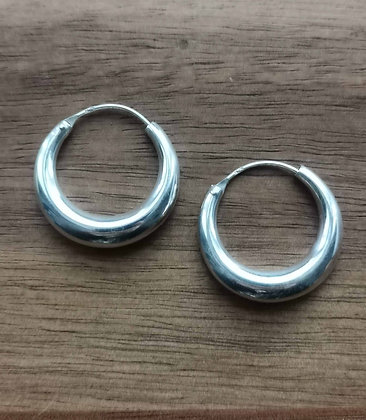 Medium Half Moon Hoop Earrings