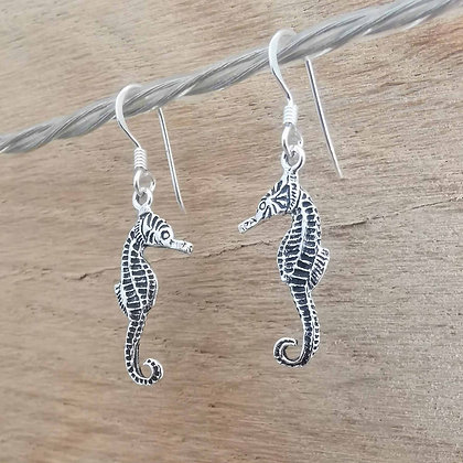 Dainty Seahorse Dangle Earrings