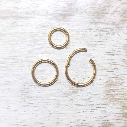 Surgical Steel Clicker Hoops (Gold)