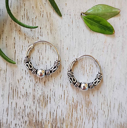 Small Bali and Ball Ear Hoops
