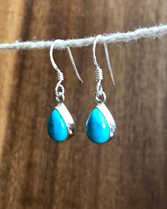 Tear Drop Stone Drop Earrings