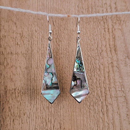 Long Abalone Drop Earrings