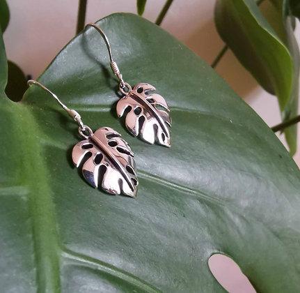 Monstera Deliciosa Leaf Earrings