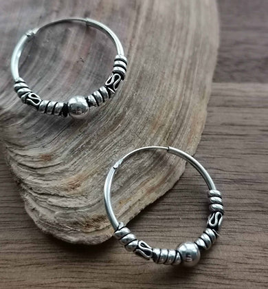 Medium Size Bohemian Ear Hoops