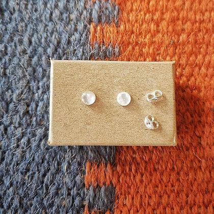 Moonstone Style Ear Studs