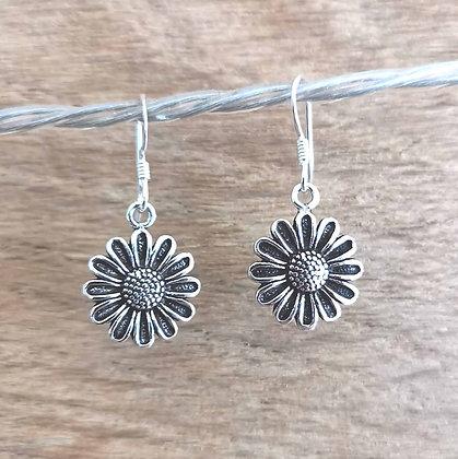 Daisy Silver Dangle Earrings