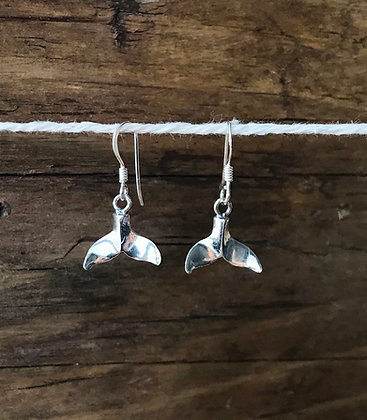 Small Whale Tail Drop Earrings