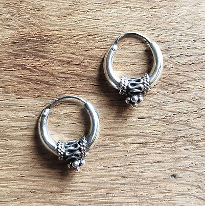 Small Thick Balinese Ear Hoops
