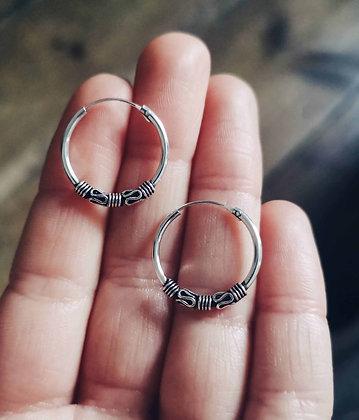 Small/Medium Ornate Ear Hoops