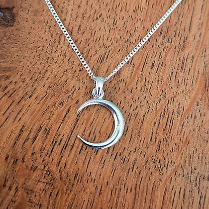 Silver Moon Crescent Necklaces
