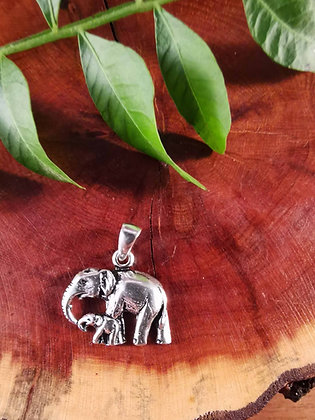 Mumma and Bubba Elephant Pendant