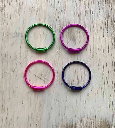 Mixed Colour Nose Hoops (Pack Of 4)