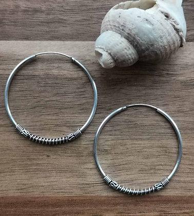 Large Sterling Silver Ear Hoops