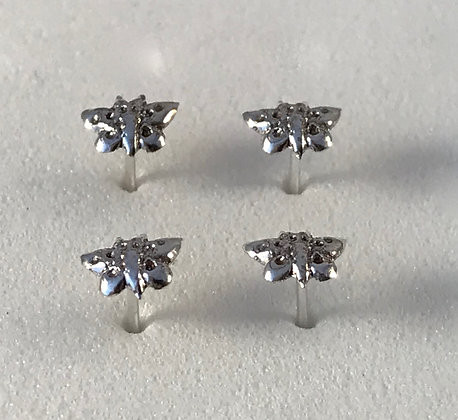 Silver Butterfly Nose Studs