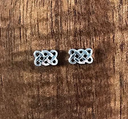Rectangle celtic ear studs