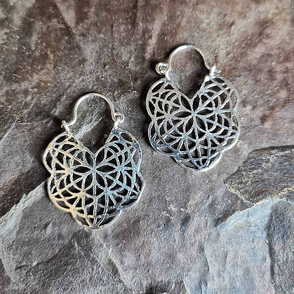 Mandala Ear Hoops