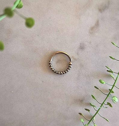 Brass Dot Design Hoop