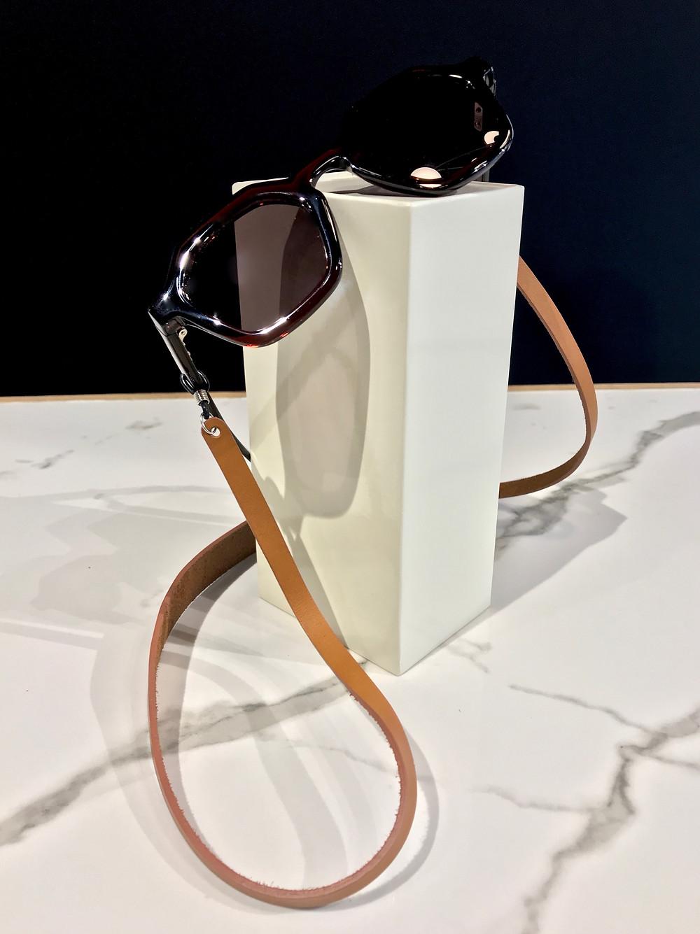 cordon lunettes cuir créateur Le Feuillet lyon