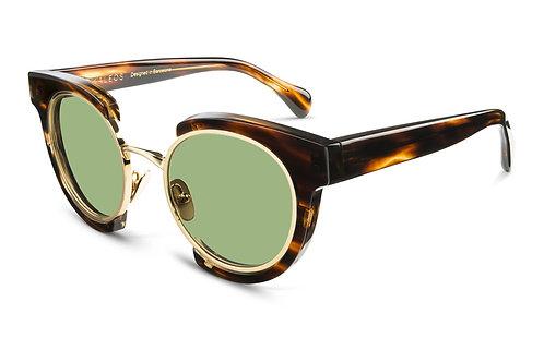 KALEOS EYEHUNTER - DECKARD - profil tortoise - loulou opticien lyon lunettes originales créateur