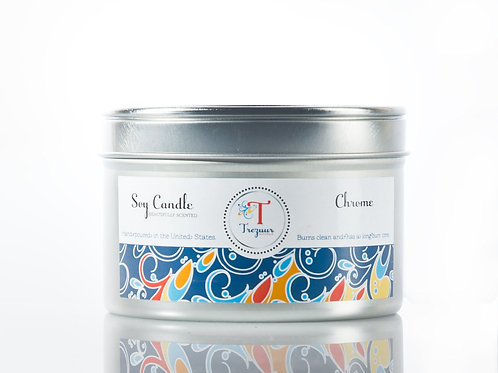Scented Soy Candle Chrome