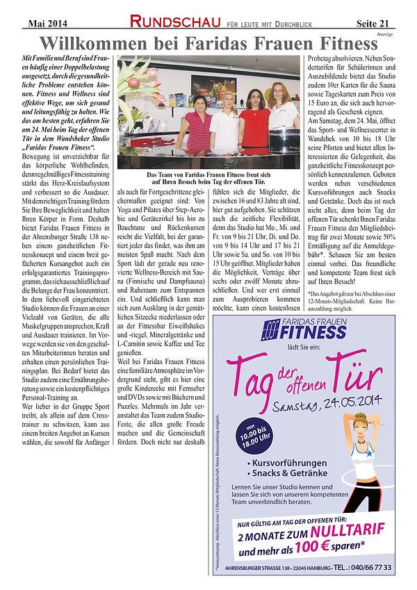 Rundschau Hamburg zu Faridas Frauen Fitness