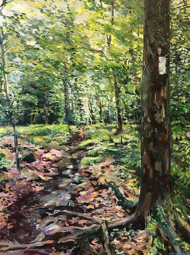 """Oil painting, """"The Long Trail"""""""