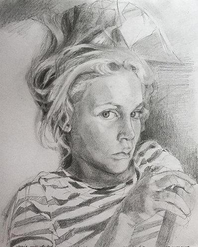 (Commission) Medium Size Portrait Drawing